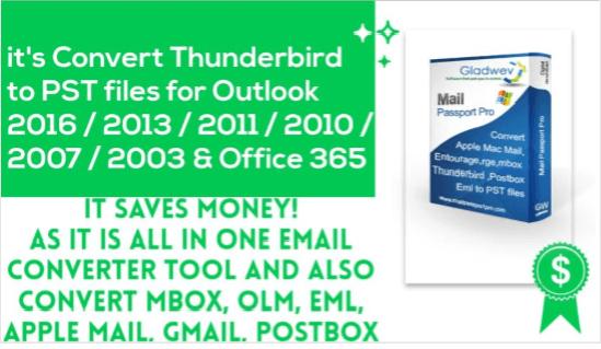 Thunderbird to Outlook Conversion