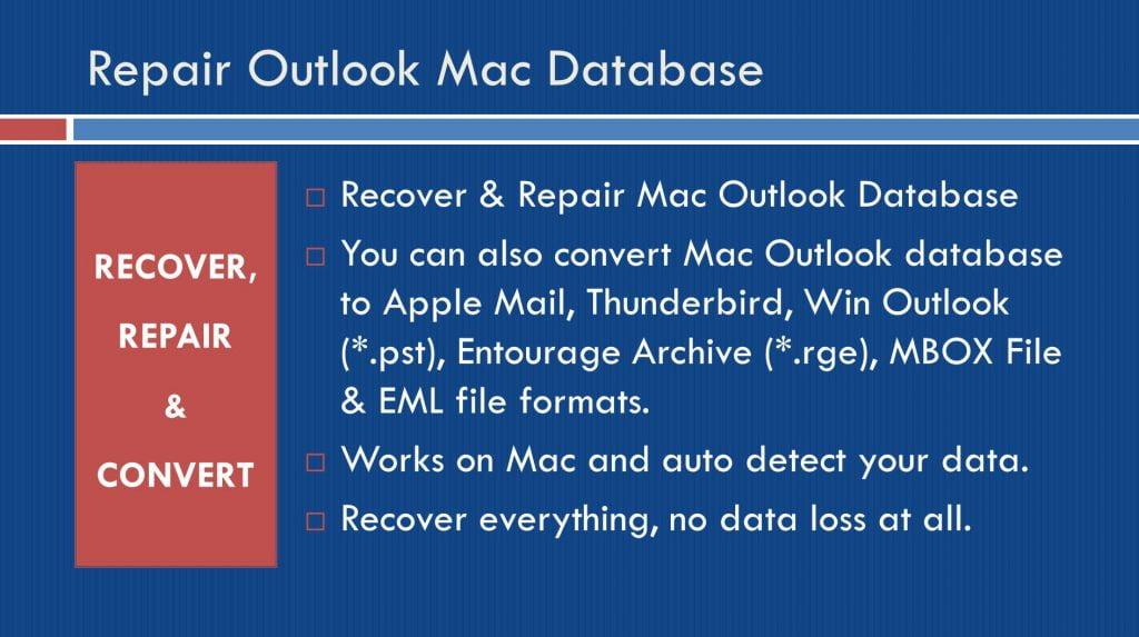 Repair Outlook Mac Database