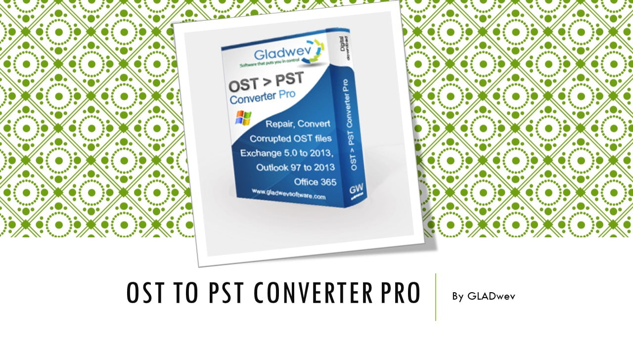 how to convert ost data to pst