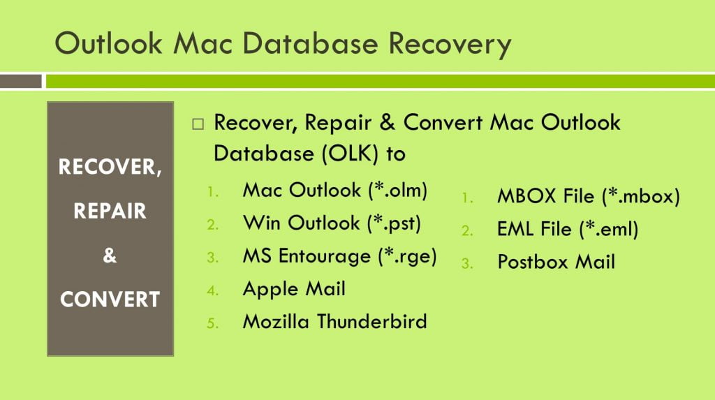 Recover Emails from Mac Outlook