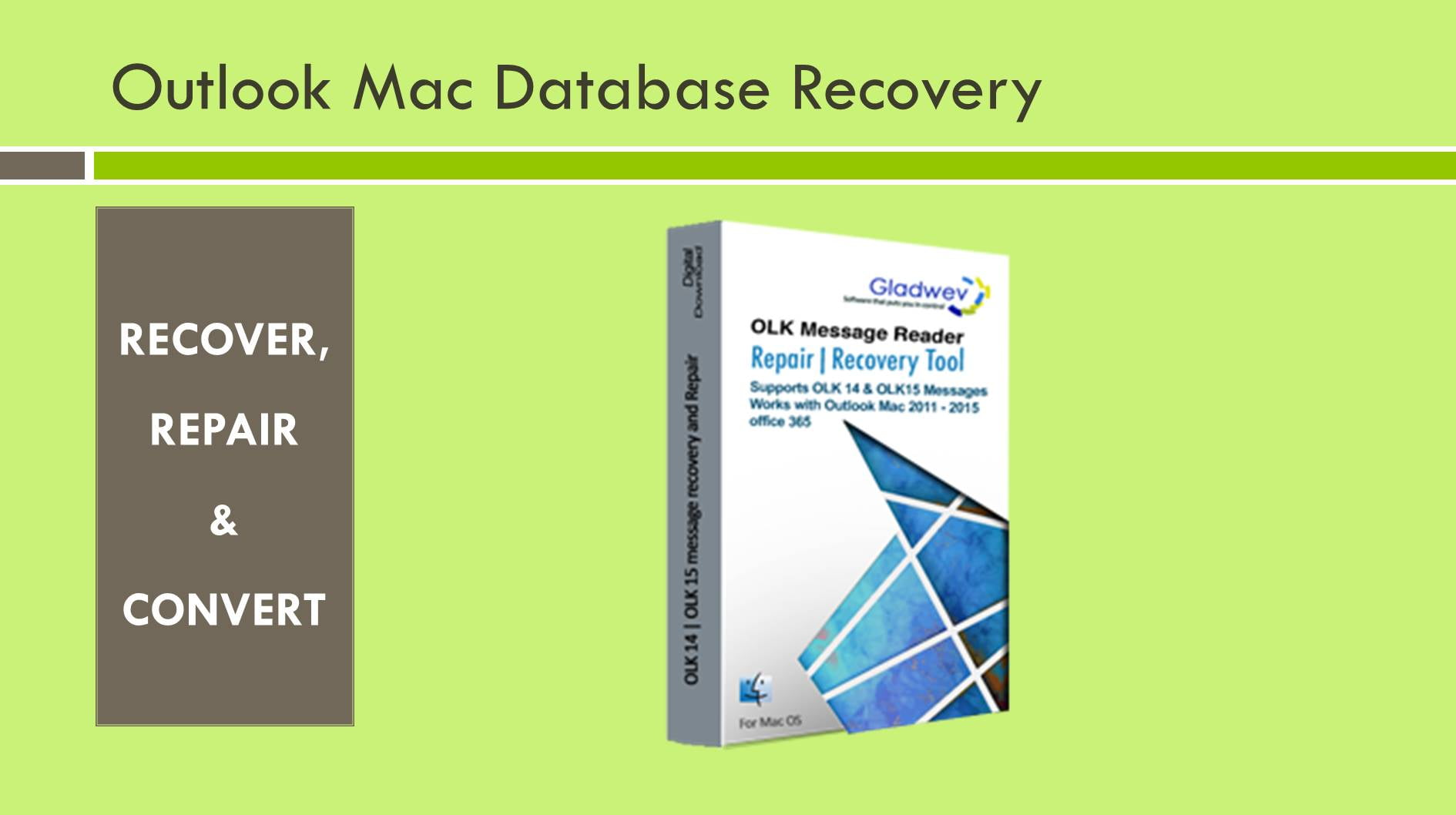 Recover Mac Outlook