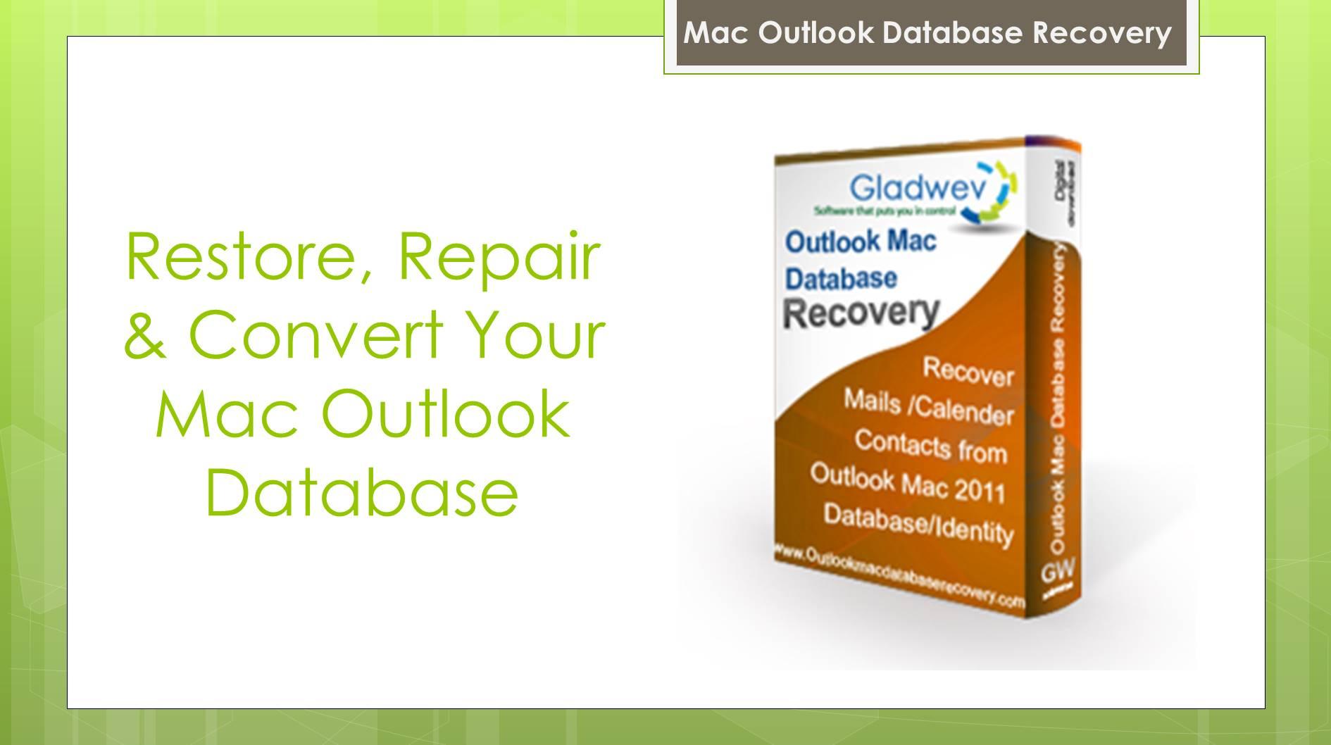 Restore Mac Outlook Database