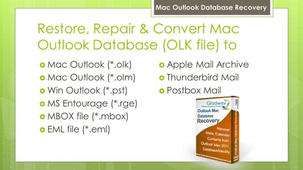 Restore Outlook Mac Database